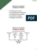 sélection Et Conception_stratégies matériau