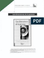 Las Dimensiones de La Persona - Tomás Melendo