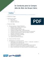 Codigo de Conducta Para La Compra Responsable de Atun de Grupo Calvo