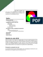 RGB (Sigla en Inglés de Red, Green, Blue, En Español «Rojo,