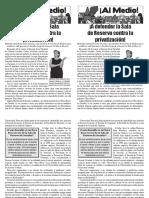 ¡A defender la Sala de Reserva contra la privatización!, Boletín Especial #1, Enero 2009