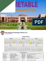 Timetable II Sem 2017-18