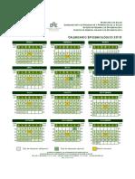 Calendario epidemiológico 2018.