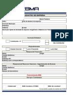 BMA_Cadastro de Empresa - Preenchimento Empresa