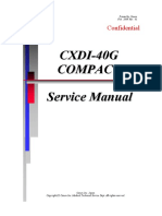 Canon CXDI-40G X-Ray - Service Manual