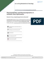 Pharmacokinetics and Pharmacodynamics in Antibiotic Dose Optimization