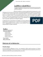 Distinción Analítico-sintético - Wikipedia
