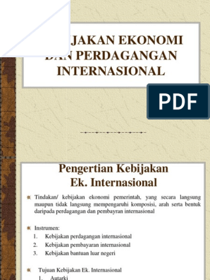 Kebijakan Perdagangan Eko.internasional
