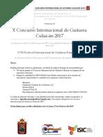 Convocatoria Concurso Internacional 2017