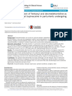 Assessment the Effect of Fentanyl and Dexmedetomidine as Adjuvant to Epidural Bupivacaine in Parturients Undergoing Normal Labor