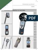 Testo Anemometros Catalogo General Instrumentos de Medicion de Velocidad Testo 509873