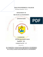 ME6603-Finite Element Analysis