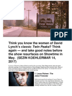 Sezin Koehler-The Woman of Twin Peaks From Trickster to Shapeshifter