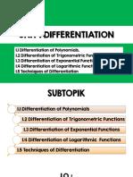 Unit 1 Differentiations