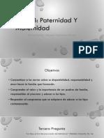 Charlas Prematrimoniales Tema 3 - Paternidad y Maternidad