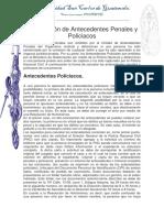 Cancelación de Antecedentes Penales y Policiacos Documento...