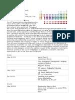 YIHS Chemistry - Grade 11 - Course Description 2018