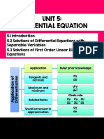 Unit 5 Differential Equation