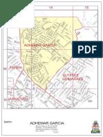 Mapa Do Bairro Adhemar Garcia, Município de Joinville, Out2015