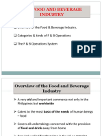 01 Overview of the F & B Industry