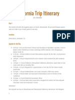 california itinerary