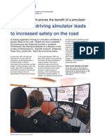 Training in Driving Simulator Leads to Increased Safety on Road