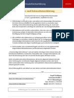 Businessplan Vertraulichkeitserklärung