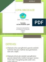 DIPLOPIA BINOKULER