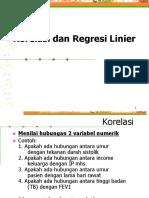 Regresi Liner Sederhana