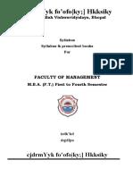 MBA Latest Syllabus[1]