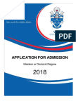 Annexure a 2018 Application