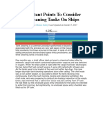11 Important Points to Consider While Cleaning Tanks on Ships