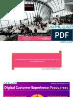 Digital Customer Experience Focus Areas