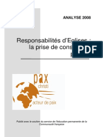Analyse 2008 Responsabilites d Eglises La Prise de Conscience Penible 1