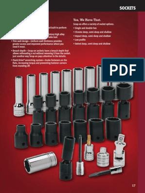 "2007 Snap-on Tools USA 1//2/"" Drive 7//16/"" SAE 12pt Shallow Impact Socket IMD140A"