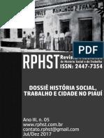 Revista Piauiense de História Social e Do Trabalho, Ano III, n. 05