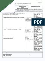 Instructivo Especifico Verificación de Pruebas Electricas - Promet Servicios SPA.