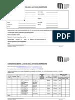 MCC Loading Dock Service Order Form 2017
