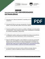 Requisitos e Información Sobre Reválidas de Universidades Extranjeras