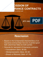Lecture 07 Rescission of Insurance Contracts
