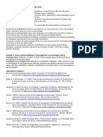 Psicología Clínica, Presentación de Cátedra 2017
