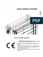 High Speed Door Installation Manual