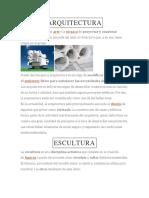 Arquitectura, Escultura, Etc