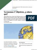 8 Objetivos Desarrollo Sostenible