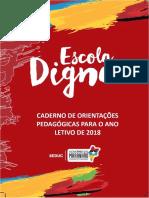 Caderno Orientações Pedagógicas Para o Ano Letivo 2018 Atualizado Em 14 Jan 2018
