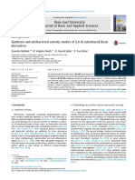 Synthesis and antibacterial activity studies of 2,4-di substituted furan derivatives