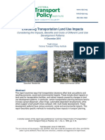 Evaluating Transportation Land Use Impacts