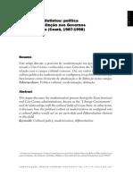Alexandre Barbalho - Politica Cultural e Distinçao Do Governo Das Mudanças