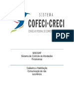 Manual Siscoaf Inocorrencia