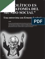 """Pozo-Buleje (2008) """"Lo político es la anatomía del mundo social"""". Una entrevista con Ernesto Laclau"""